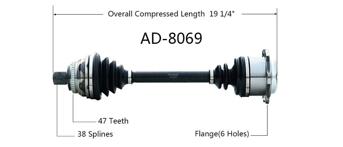 audi 100 cv axle shaft replacement cardone surtrak axle go parts rh go parts com Red 1989 Audi 100 1994 Audi 100