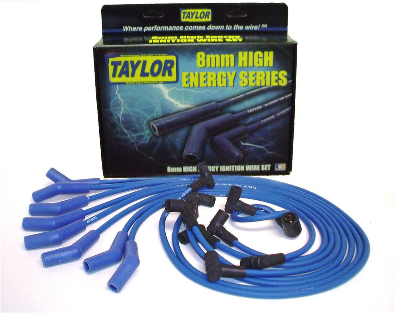 Taylor Cable 74607 Spiro-Pro Blue Spark Plug Wire Set