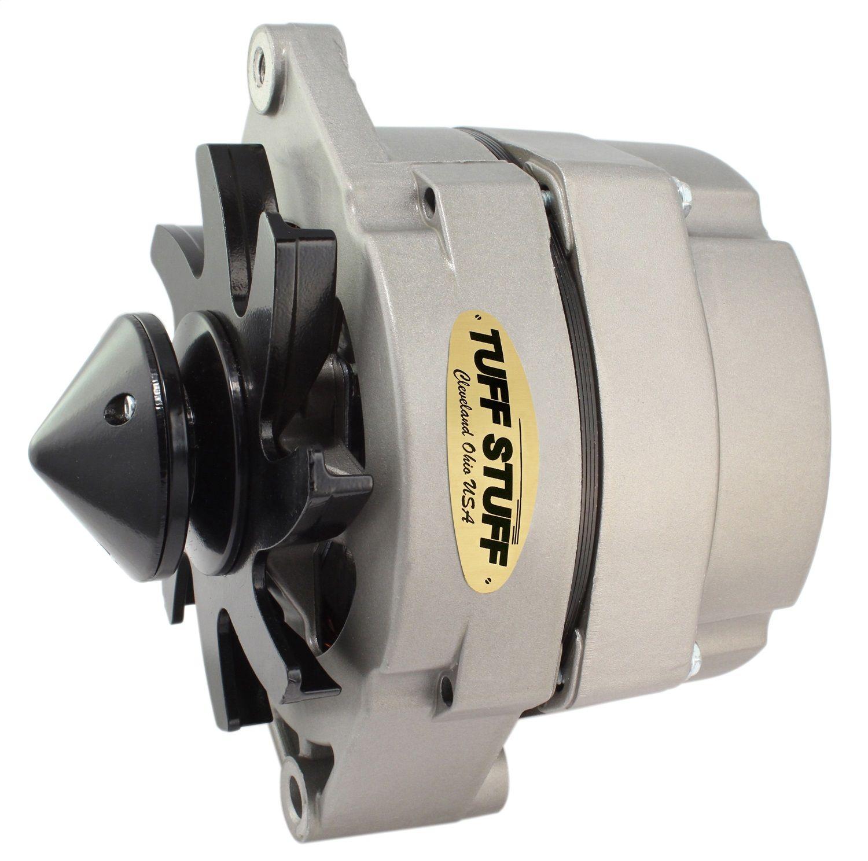 Tuff Stuff Alternator 7127NH; 10SI 12SI 65 Amp Black 1-Wire w// V-Belt Pulley