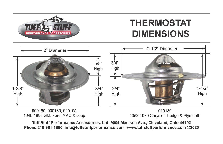 Engine Coolant Thermostat-Windsor Tuff Stuff 900180