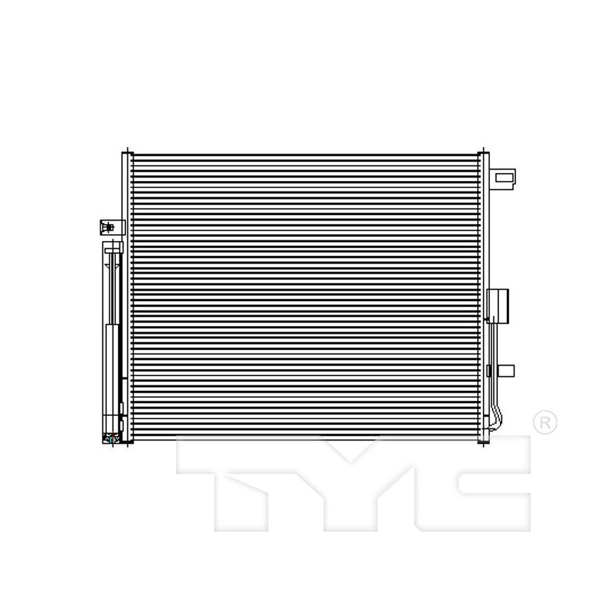 TYC 4930 Dodge Durango Parallel Flow Replacement Condenser