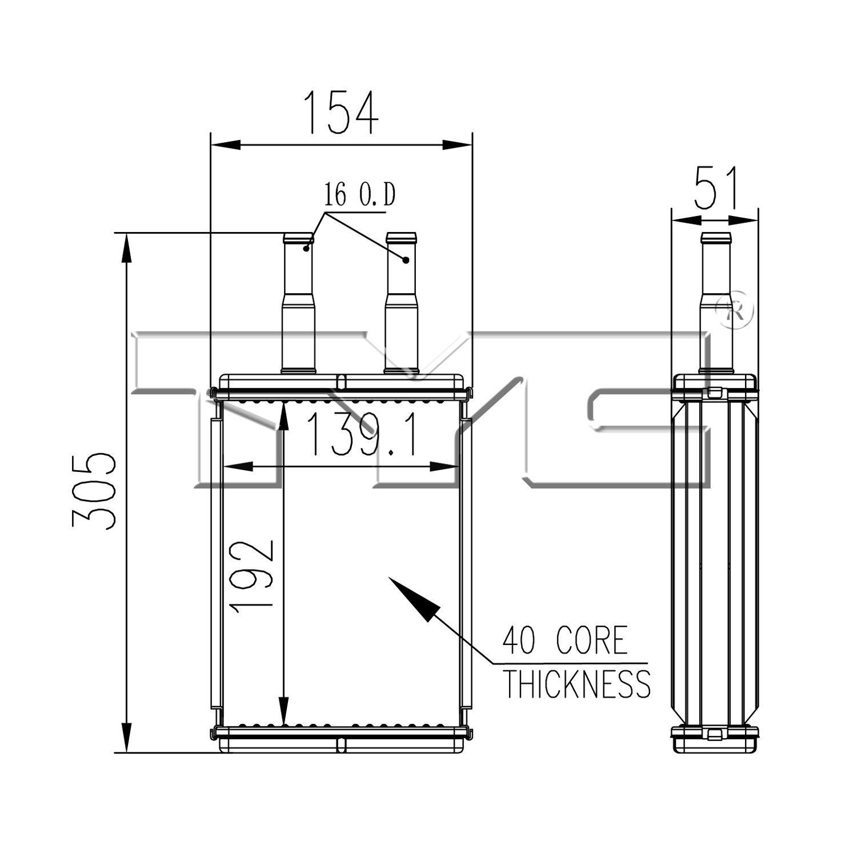 HVAC Heater Core APDI 9010250