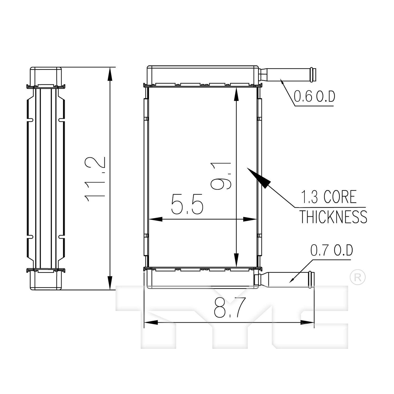 HVAC Heater Core APDI 9010170