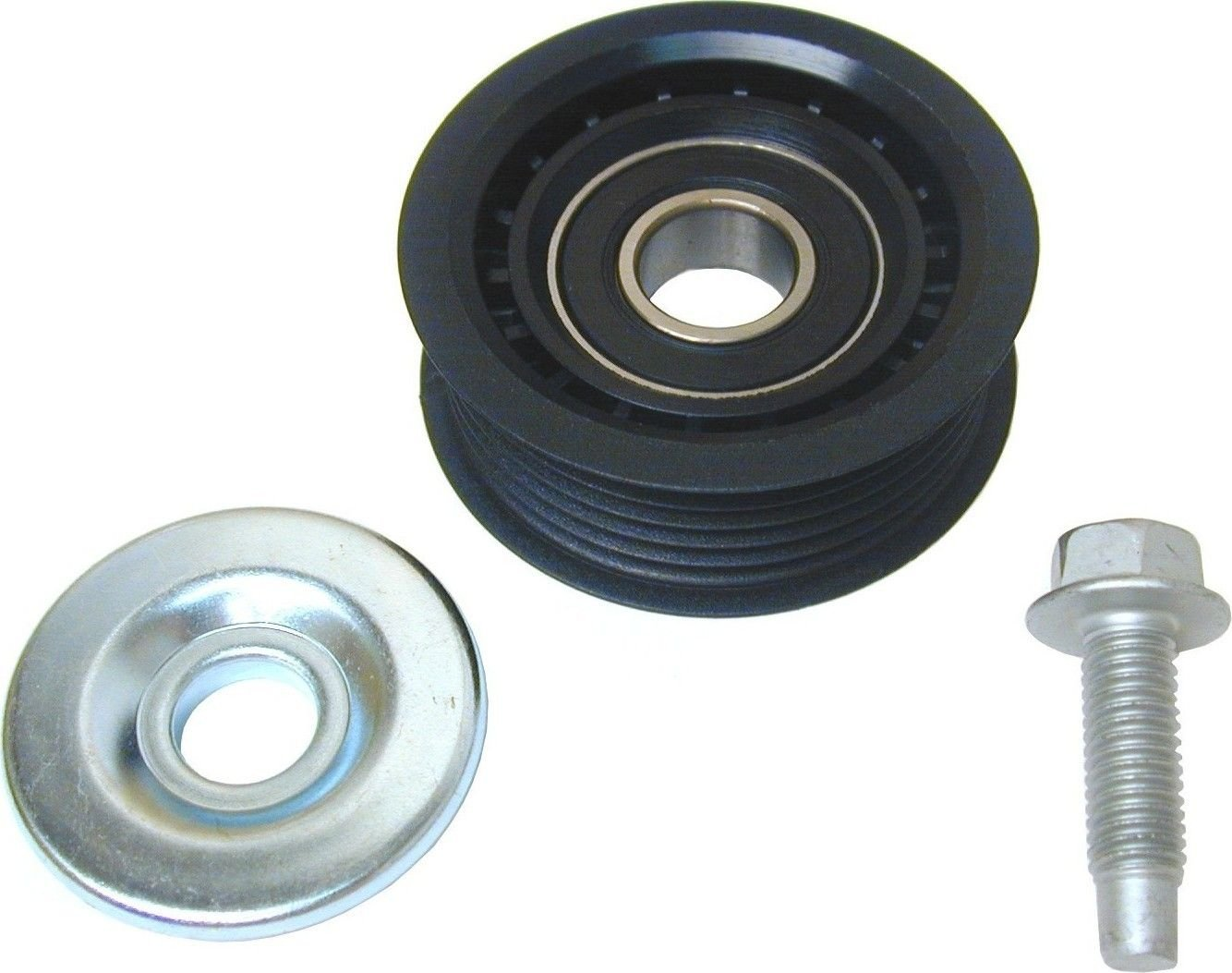 Saab 9 5 Drive Belt Idler Pulley Replacement Acdelco Apa Uro Parts 2000 Timing Upper 4 Cyl 23l 4967907 Above The Tensioner Grooved