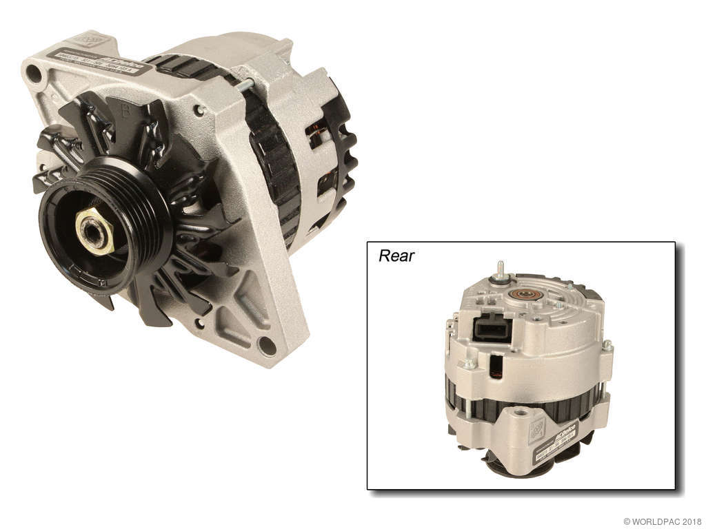 1994 chevrolet commercial chassis alternator acdelco w0133 1921420 with 105 amp
