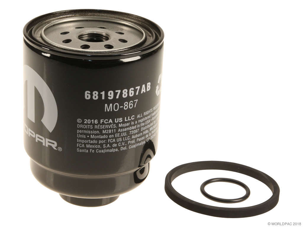 Ram 2500 Fuel Filter Replacement Fram Hastings Mopar Premium 2013 6 Cyl 67l W0133 2110020 Separator Mounted On Frame Rail