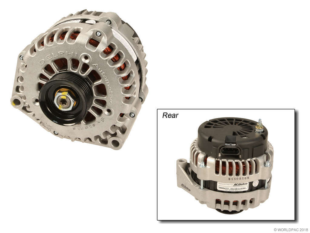 2000 Chevrolet Tahoe Alternator 8 Cyl 4 8l Acdelco W0133 1929083 With 130 Amp