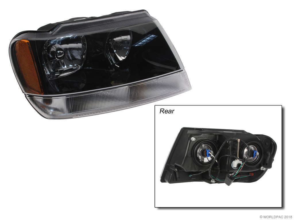 2002 Jeep Grand Cherokee Headlight Assembly (VAIP   Vision Lighting  W0133 1844017) Production: 01/14/2002  .