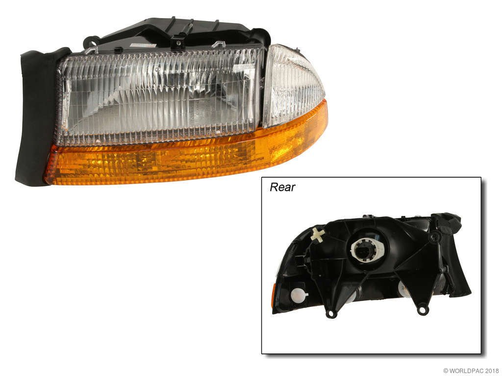 1999 Dodge Dakota Headlight Embly Vaip Vision Lighting W0133 1843725 Combination