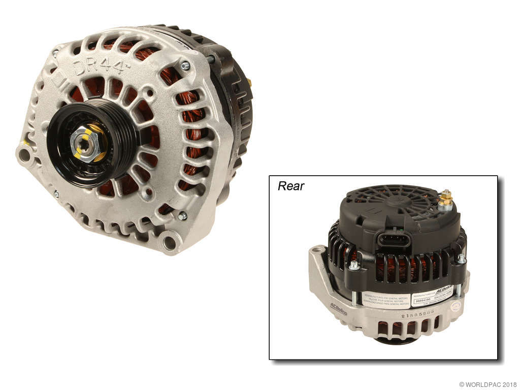 2002 Chevrolet Tahoe Alternator Acdelco W0133 1968516 With 145 Amp Rpo 8c8 Remanufactured